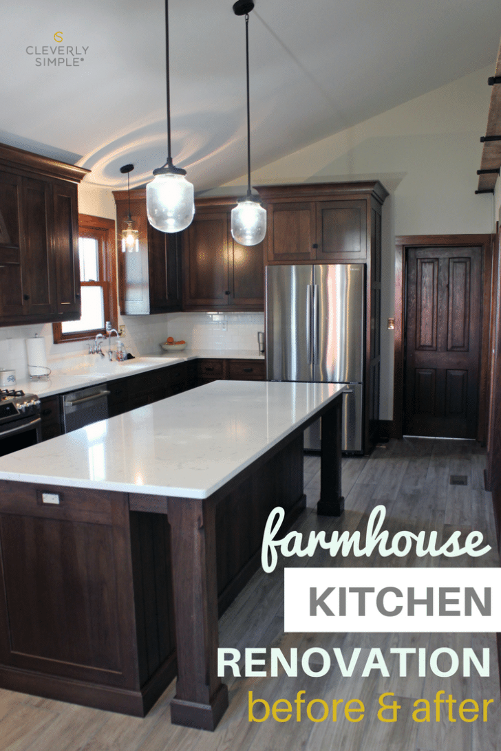 Farmhouse Kitchen Renovation Before Amp After Cleverly Simple