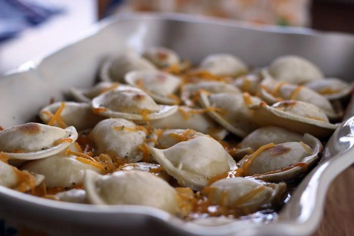 recipe using frozen pierogies