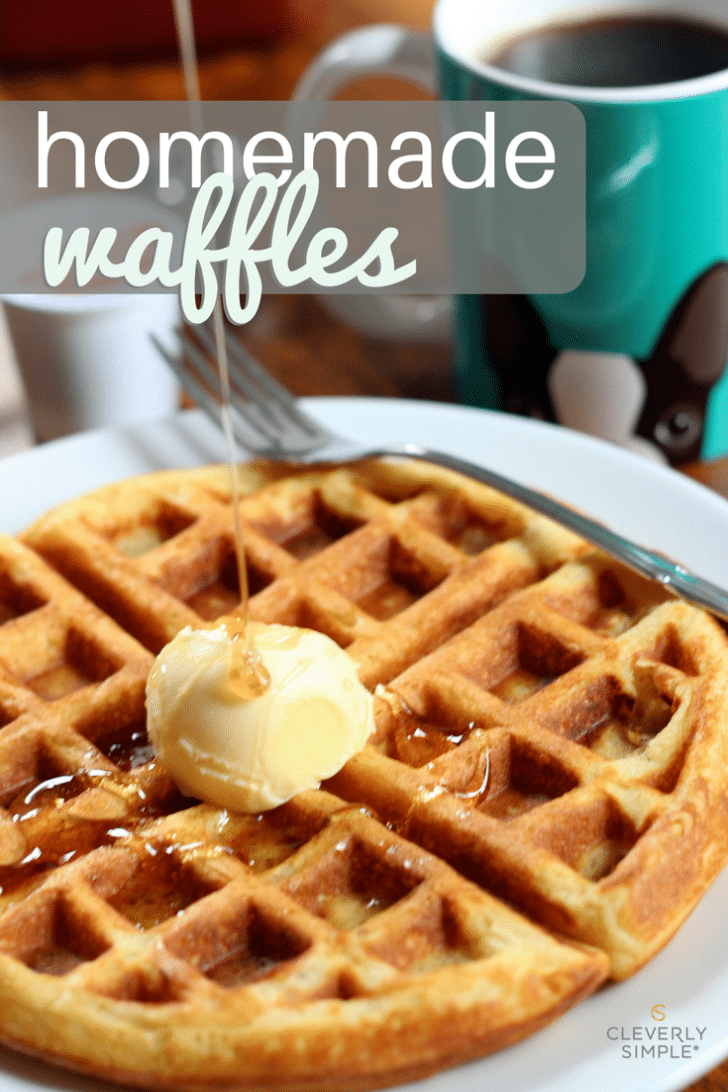 This is the best homemade waffle recipe that's been passed down in my family.  Easy!