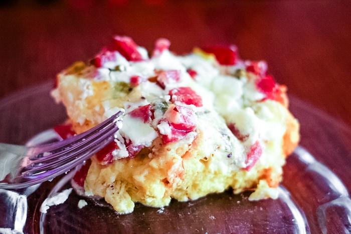 breakfast egg casserole on plate