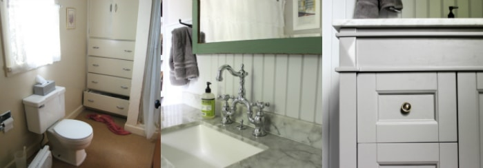 Farmhouse Bathroom Renovation Before And After Simple Recipes - Diy bathroom remodel before and after