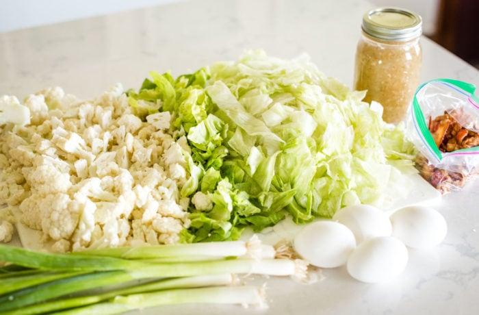 chopped lettuce