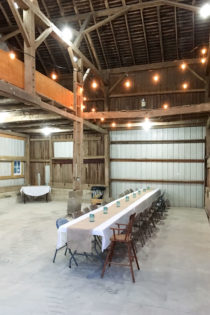Barn Party for our Neighbors & A Fresh Salad with Bacon