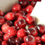 cranberry sauce in slow cooker