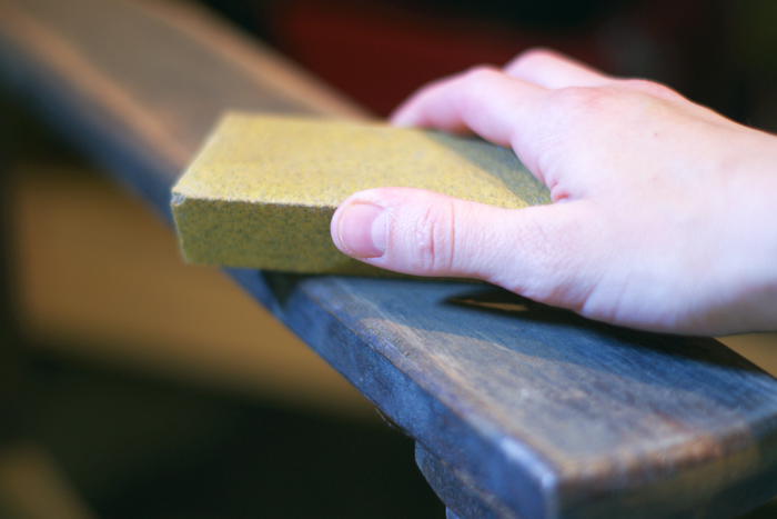 sanding wood furniture