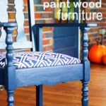 DIY painted furniture for your front porch.