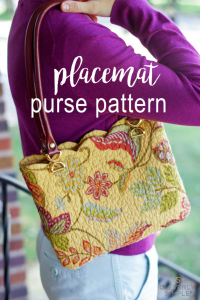 Easy purse pattern using a store bought placemat for the material! Made in a just a few steps with personality and style!