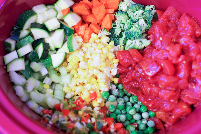 vegetables chopped in bowl