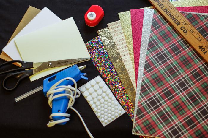 supplies cardstock glue gun for cards