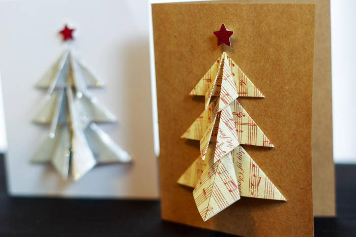 musical tree on card