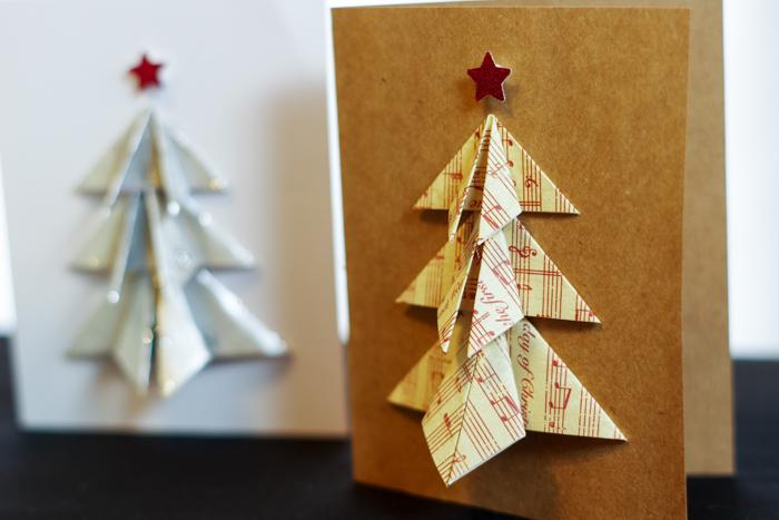 musical tree on card