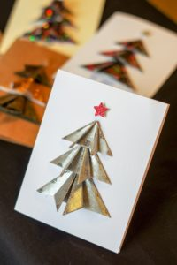 Tree on card with star