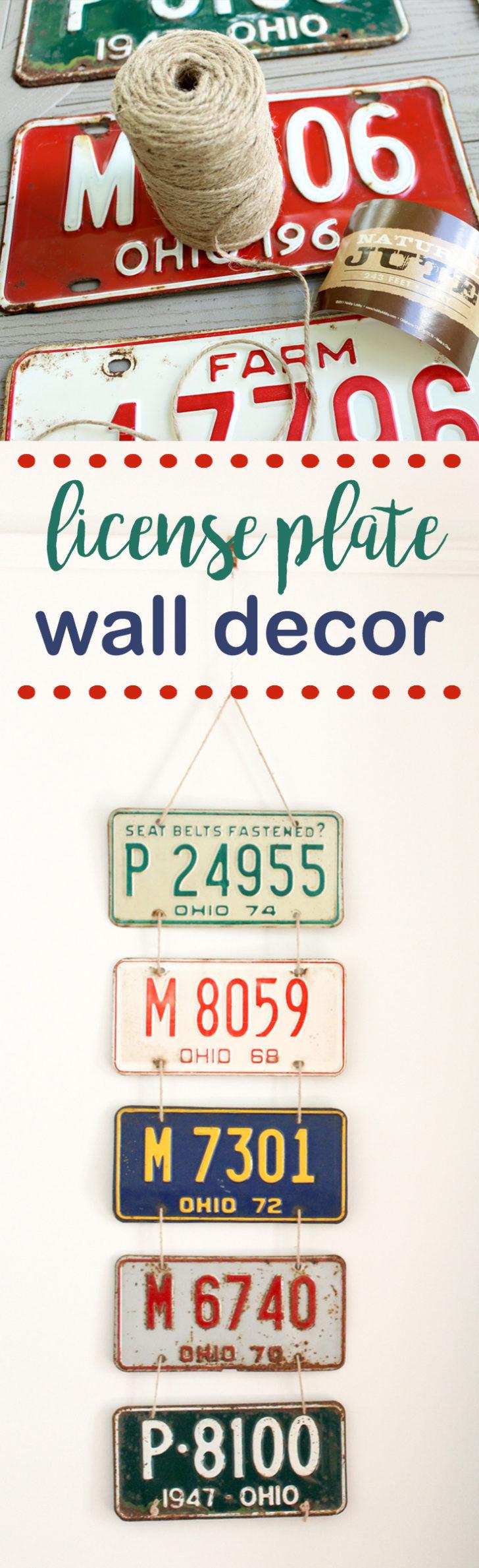 custom license plate wall decor