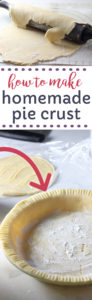 Homemade pie crust recipe made with shortening.