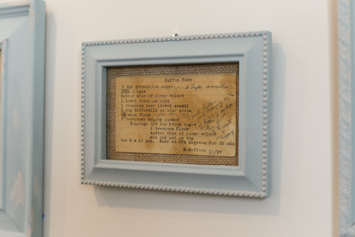 framed recipe