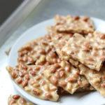 peanut brittle on plate