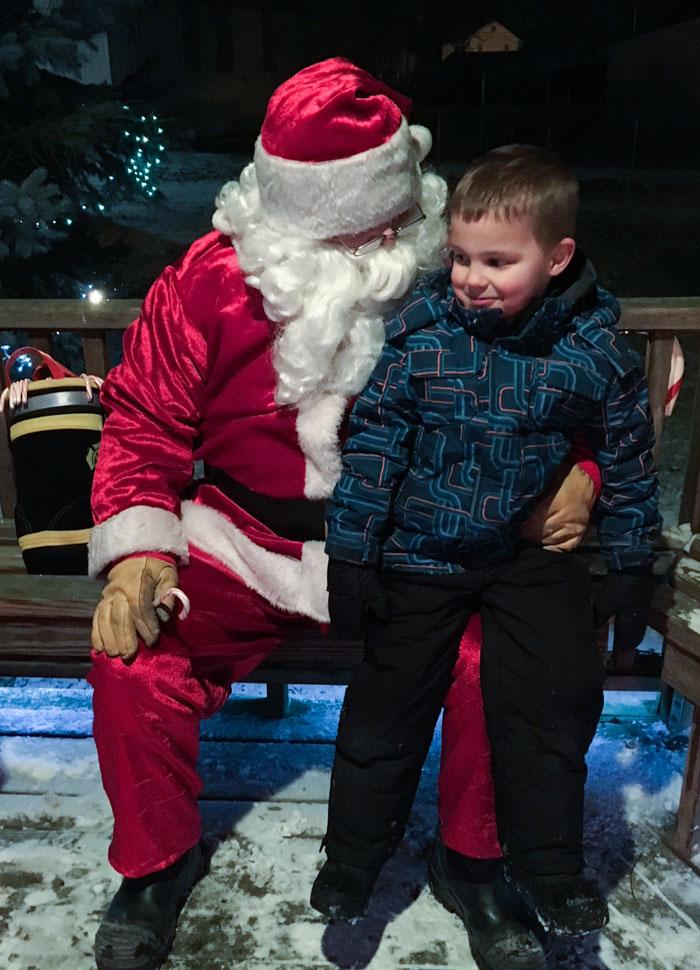 child on Santas lap