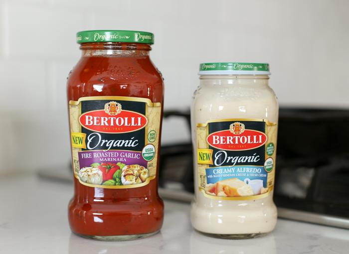 jars or Bertolli pasta sauce