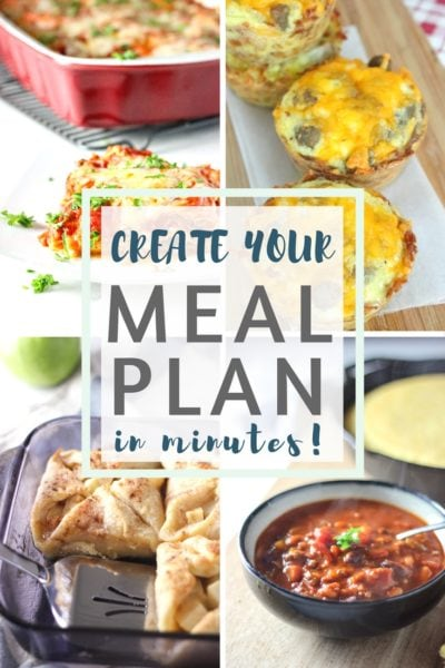 recipe pictures with box and text