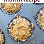 sweet potato muffins in baking pan