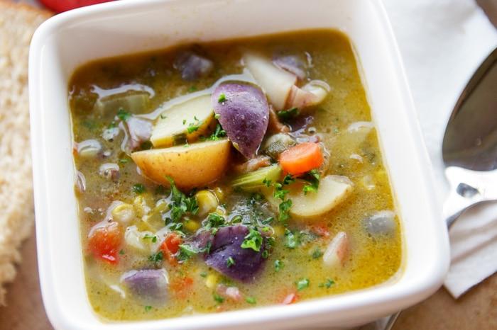 potato soup in bowl