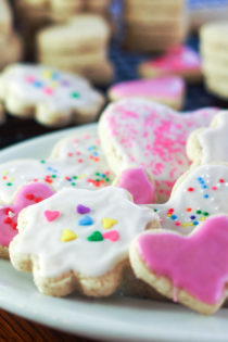plate of gluten free sugar cookies