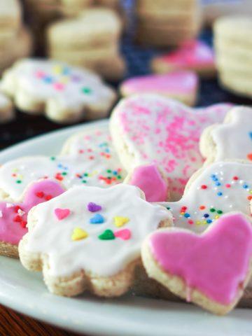 plate of gluten free sugar cookies
