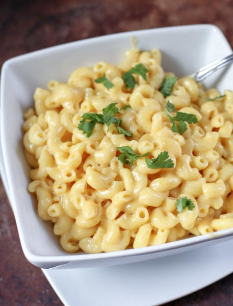 bow of mac and cheese