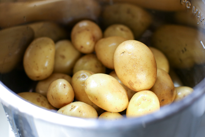 bowl with gold potatoes