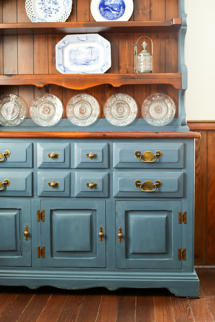 painted hutch with two tones