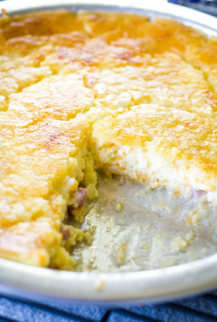 bisquick quiche in pie pan