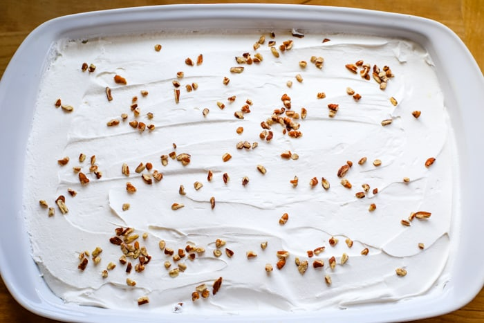 lemon lush dessert top layer of cool whip and pecans
