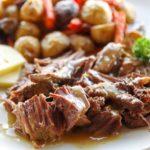 venison steak on plate