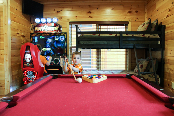 Gatlinburg Falls Resort Cypress Lodge Game Room Pool Table