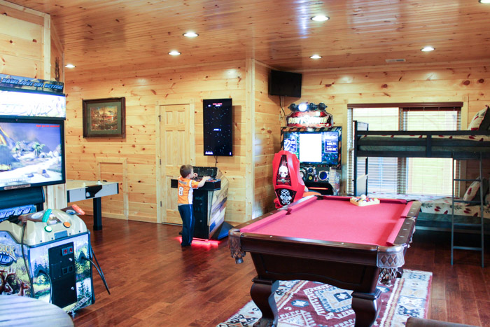Gatlinburg Falls Resort Cypress Lodge Game Room with Bunk Beds