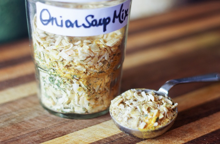 onion soup mix recipe in mason jar