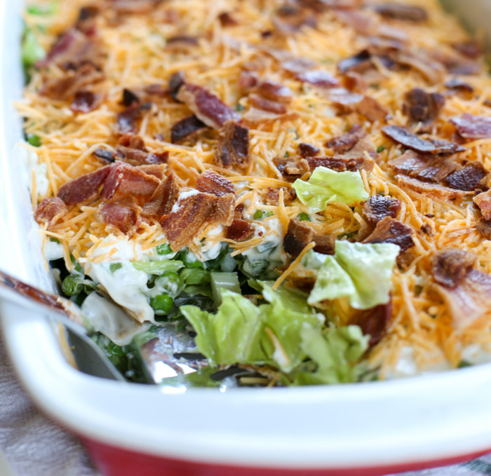 traditional seven layer salad