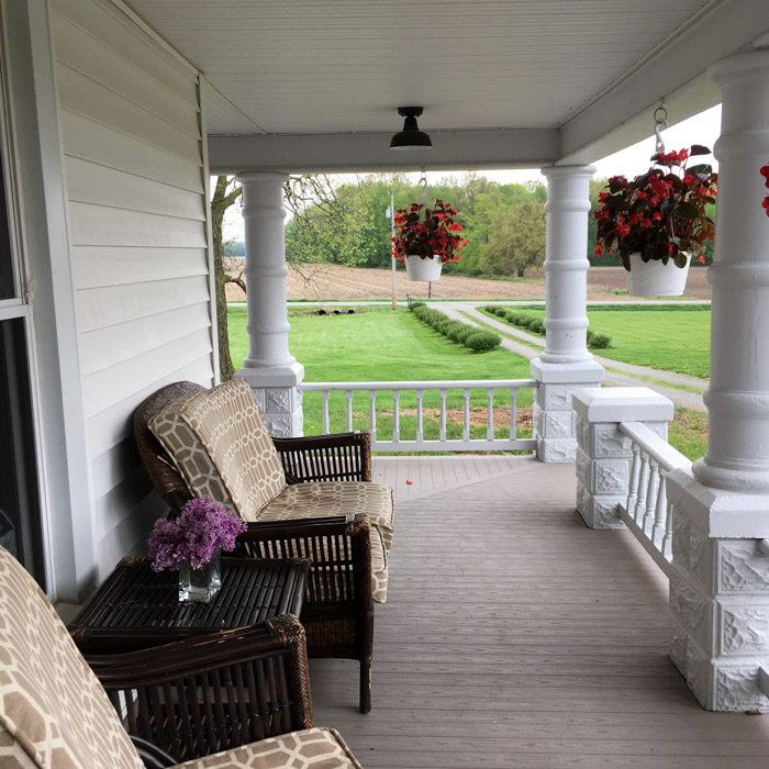 front porch on a farmhouse