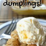 mountain dew apple dumplings with ice cream