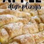 apple dumplings in baking pan