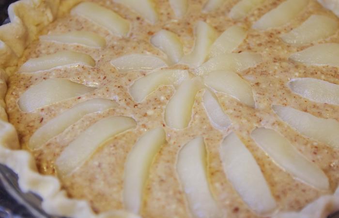 pear pie recipe ready to bake in pie shell