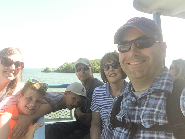family on Miller Ferry
