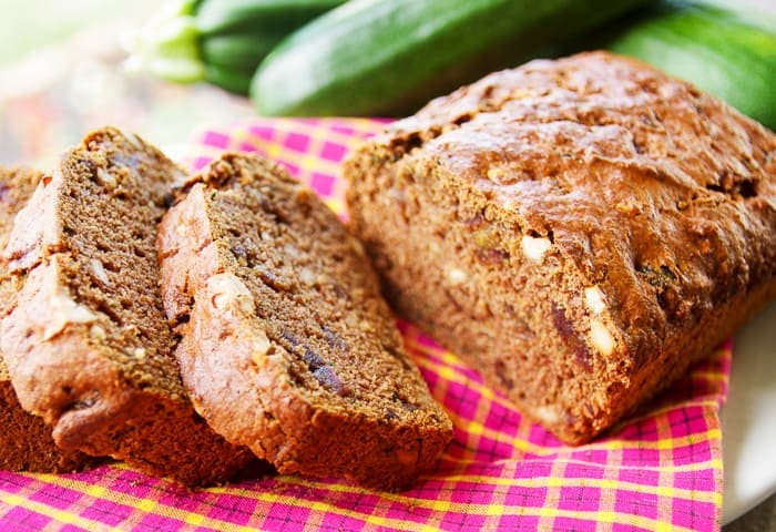 sliced healthy zucchini bread