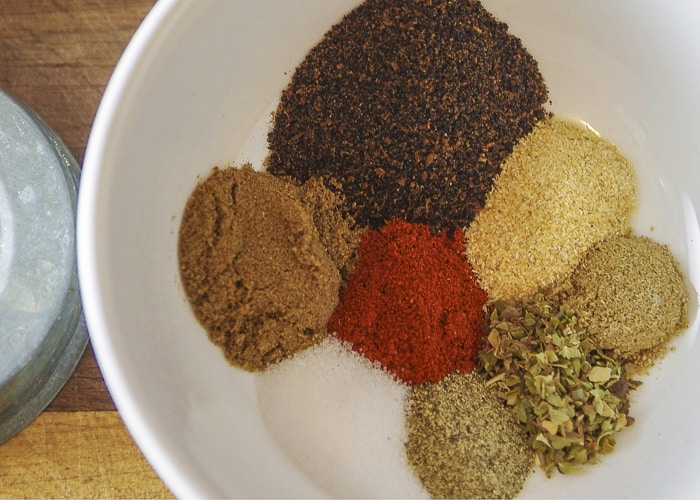 taco meat seasoning ingredients in bowl