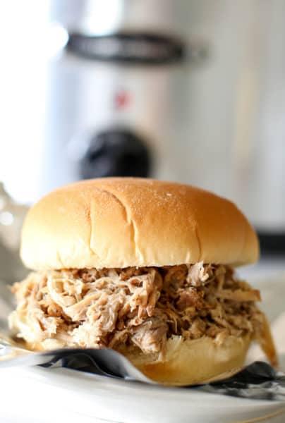 pulled pork slow cooker sandwich