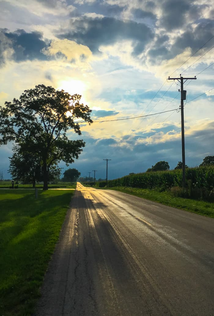 country road in ohio