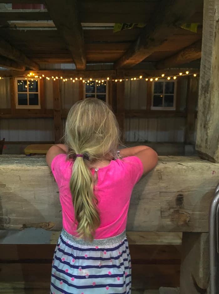 girl in barn