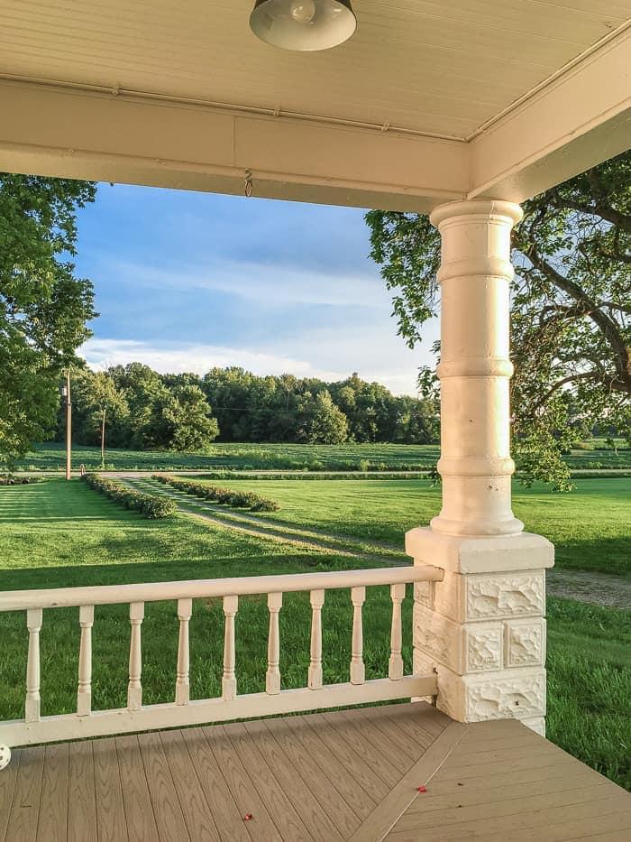 front porch view farmhouse