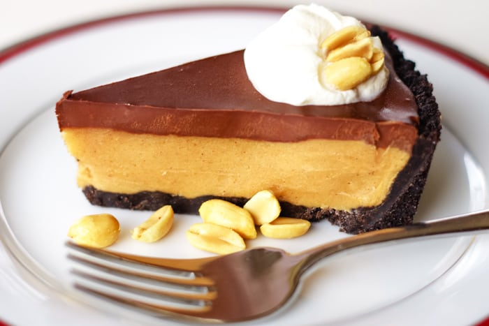 peanut butter pie recipe on plate