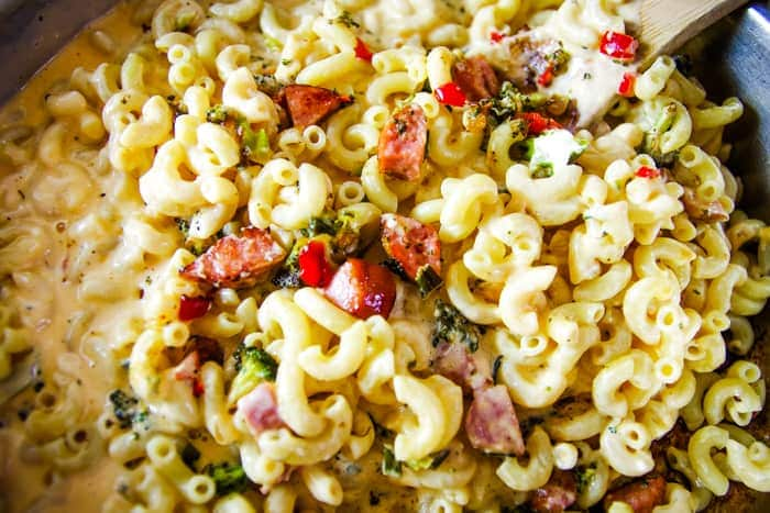 macaroni casserole ready to bake